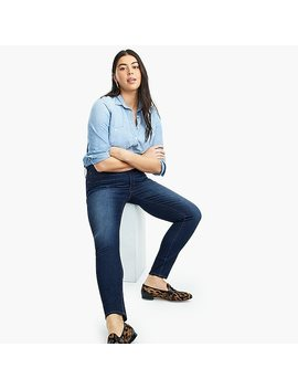 "9"" High Rise Toothpick Jean In Indigo Wash With Thermolite® by 9"" High Rise Toothpick Jean In Indigo Wash With Thermolite"