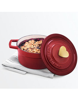 2 Qt. Enameled Cast Iron Heart Dutch Oven, Created For Macy's by Martha Stewart Collection
