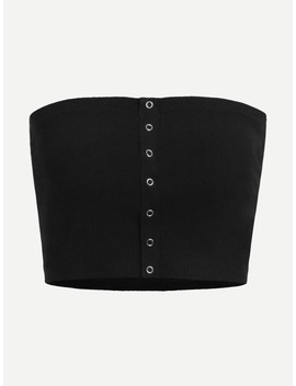 Single Breasted Solid Tube Top by Romwe