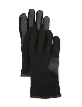 Men's Fabric & Leather Touchscreen Gloves by Ugg Australia