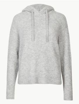 Textured Hooded Jumper by Marks & Spencer