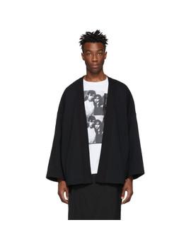 Black Kimono Cardigan by Almostblack