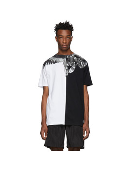 Black & Silver Snakes Wings T Shirt by Marcelo Burlon County Of Milan