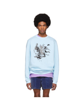 Blue Nike Edition Witch #4 Sweatshirt by Erl