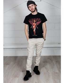 Nirvana In Utero Wings Unisex T Shirt by Cosmic Saint