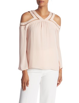 Lex Cold Shoulder Sleeve Silk Blouse by Ramy Brook