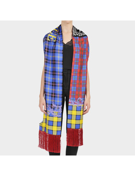 Long Scarf In Multicolor Silk by Versace