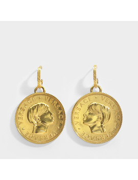 Donatella Earrings In Gold Metal by Versace