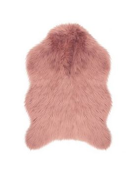 "Jean Pierre Faux Fur 2'4"" X 4' Accent Rug In Blush by Bed Bath And Beyond"