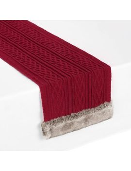 Ugg® 72 Inch Cable Knit Table Runner In Snow by Bed Bath And Beyond