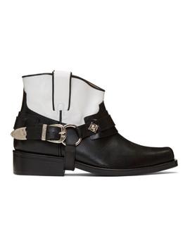 Black & White Leather Boots by Toga Virilis