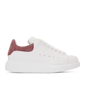 Ssense Exclusive White & Pink Oversized Sneakers by Alexander Mcqueen