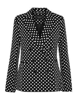 Jenise Double Breasted Polka Dot Twill Blazer by W118 By Walter Baker