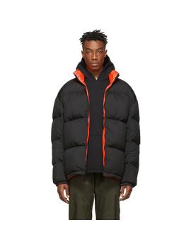 Reversible Black & Orange Down Nrg Puffer Jacket by Nikelab
