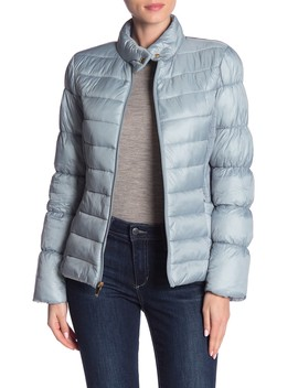 Stand Collar Quilted Jacket by Via Spiga