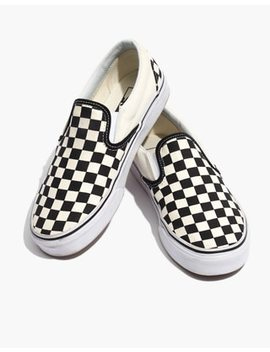 Vans® Unisex Classic Slip On Sneakers In Black Checkerboard by Madewell