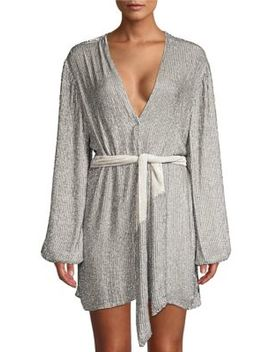 Gabrielle Sequined Wrap Robe by Retrofête