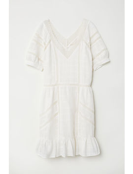 Cotton Dress With V Neck by H&M