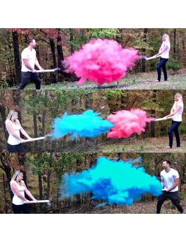 """24"""" Smoke Powder Cannon™ In Pink, Blue, White, For Gender Reveals Ships Same Day! Gender Reveal Smoke Powder Cannons! As Seen On Tv! by Etsy"""