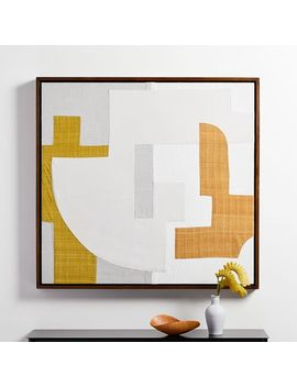 Pieced Fabric Wall Art   Yellow by West Elm