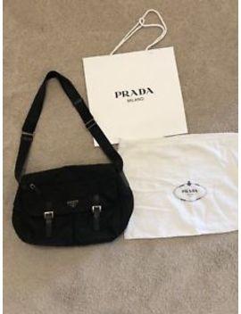 Prada Pattina Vela Nero Bt0171 Crossbody Black Nylon Messenger Bag by Prada