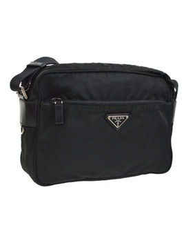 Auth Prada Cross Body Shoulder Bag Black Vela Sport Nero Nylon Bt0166 Ak28484 by Prada