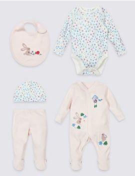 5 Piece Pure Cotton Newborn Essential Set by Marks & Spencer