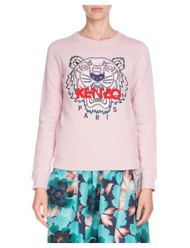 Tiger Embroidered Crewneck Sweatshirt by Kenzo