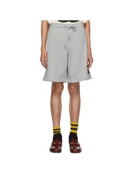 Grey Logo Shorts by Gucci