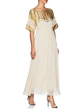 Silk Blend Crepe Maxi Dress by Chloé