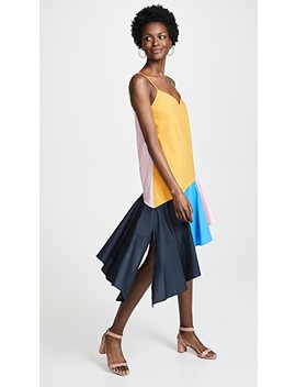 Colorblock Midi Dress by English Factory