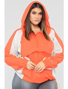 Michelle Nylon Jacket   Orange by Fashion Nova