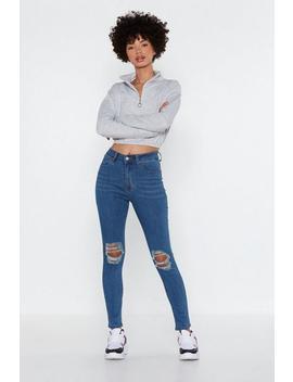 Choose Knee Skinny Jeans by Nasty Gal