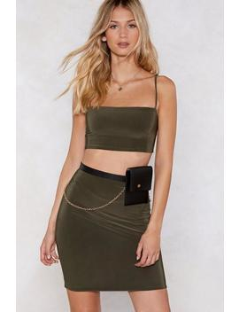 Take Two Crop Top And Skirt Set by Nasty Gal