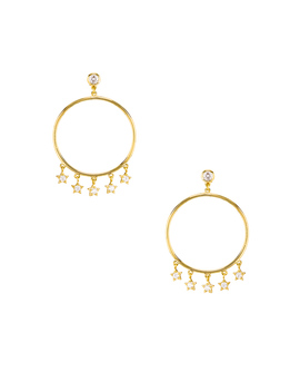 Star Dangle Hoop Earrings by Shashi