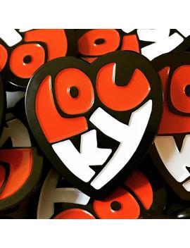 Lou Ky Heart Enamel Pin   Louisville by Etsy