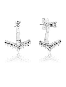 Princess Wish Earrings, Clear Cz Sterling Silver, Cubic Zirconia by Pandora