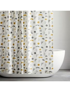 Organic Mid Century Geo Shower Curtain by West Elm