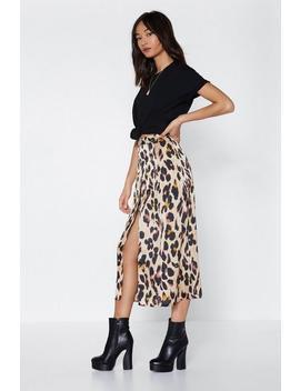 Drive Me Wild Leopard Midi Skirt by Nasty Gal