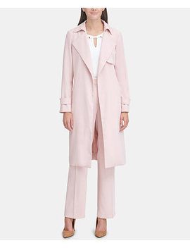 Crepe Suiting Trench by Tommy Hilfiger