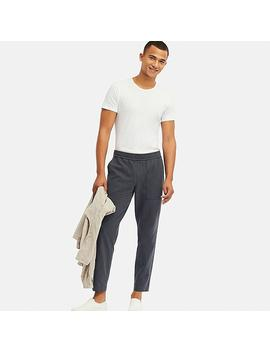 Men Washed Jersey Ankle Length Pants by Uniqlo