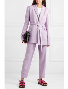 Belted Crepe Blazer by House Of Holland