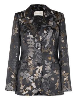 Iris Metallic Floral Jacquard Blazer by Stine Goya
