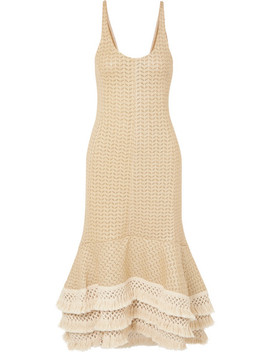 Tasseled Crochet Knit Cotton Blend Maxi Dress by 3.1 Phillip Lim