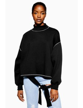 **Contrast Stitch Jumper By Native Youth by Topshop