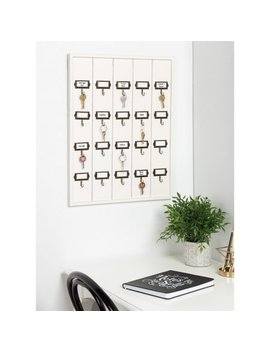 Kate And Laurel Farmhouse 20 Key Holder Wood Wall Accent by Kate And Laurel