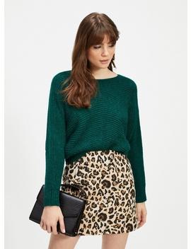Multi Coloured Leopard Print Jacquard Mini Skirt by Miss Selfridge