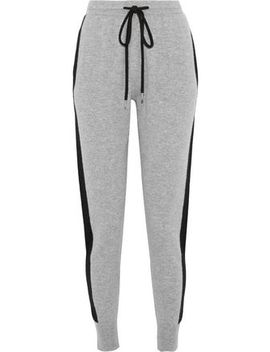 Wool And Cashmere Blend Track Pants by Markus Lupfer