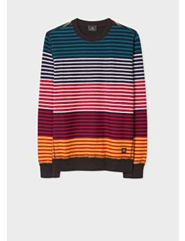 Men's Multi Colour Stripe Cotton Sweatshirt by Paul Smith