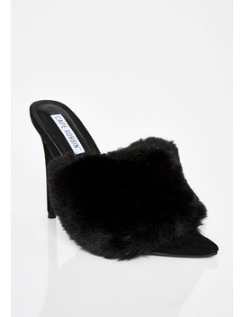 Midnight Furlicious Furry Mules by Cape Robbin